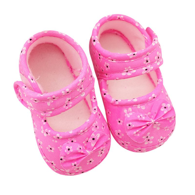 New Baby Shoes Soft Soled Bowknot Crib Shoes Foral Shoes 11 12 13 cm <br><br>Aliexpress