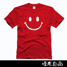 women's shorts male boys girls clothes cotton smile face classic basic tee sports tennis runway soccer jerseys(China (Mainland))