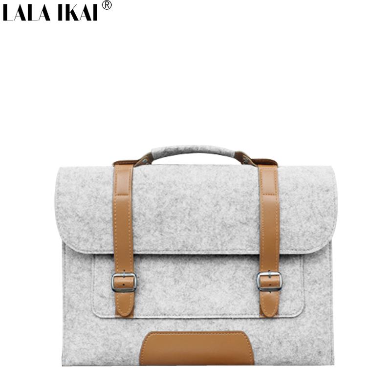 LALA IKAI Men Laptop Bag New Design Unisex Document Messenger Bags Felt Briefcase 2016 Women Pad Handbag Solid BMC0111-4.9(China (Mainland))