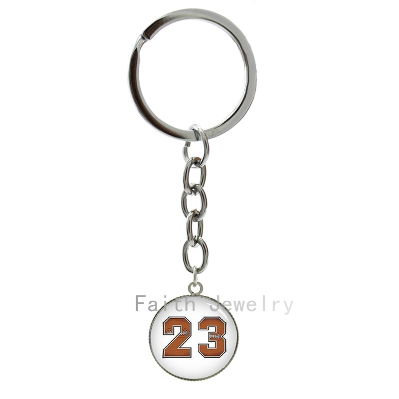 Trendy casual sports style ball number art picture key chain simple football number & volleyball number image keychain 1259 1260(China (Mainland))