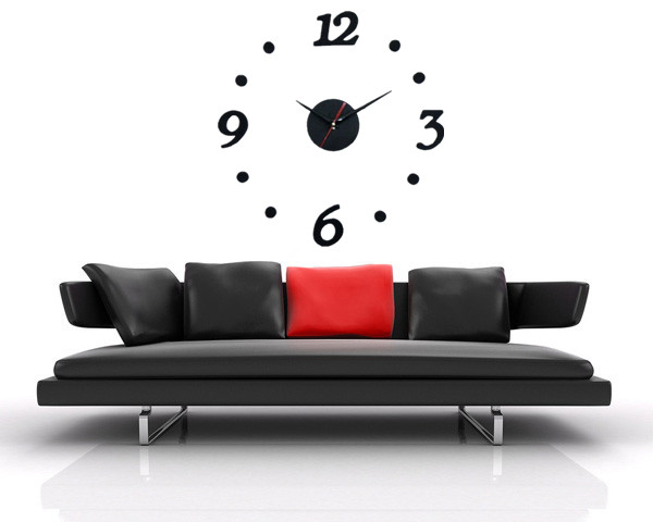 Hot sale Stylish 3D Simple Wall Clock DIY clock Wall Digital funny Clock gift craft products retails Wholesale(China (Mainland))