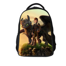 2015 New Fashion Boys Kids School Bag,Cartoon Book Bag How To Train Your Dragon 3D Teenagers Outdoor Bag Polyester Men Backpack(China (Mainland))
