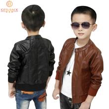 2015 nuovi ragazzi cappotti faux giacche in pelle 2 colori per bambini di modo tuta sportiva primavera e autunno & inverno, MC031(China (Mainland))