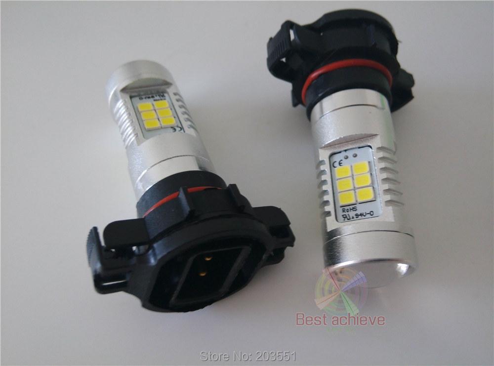 2PCS 80W H16 5202 21LED 2835 800LM 80W LED Brake Light Front Turn Signal Lamp White Fog Bulbs Daylight H16 CREE(China (Mainland))