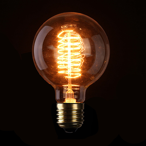 Hot Sale High Quality E27 G95 60W Filament Light Bulb Vintage Retro Antique Style Lamp 110/220V(China (Mainland))