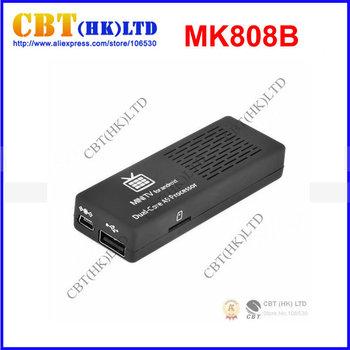 Android 4.2.2 MK808B Bluetooth Mini PC RockChip RK3066 Dual Core Cortex-A9 1.6GHz 1GB / 8GB Google TV MK808 II Free Shipping