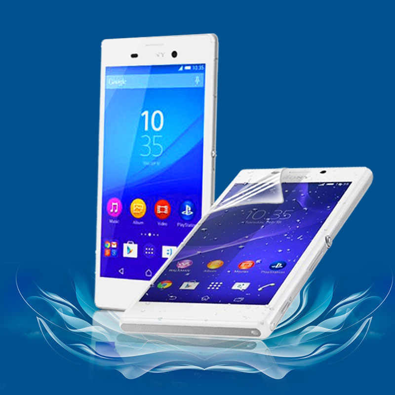 3Pcs Hot sale Free Shipping Power Support Anti-Glare Screen Protector Film Set for Sony Xperia M2 S50H(China (Mainland))
