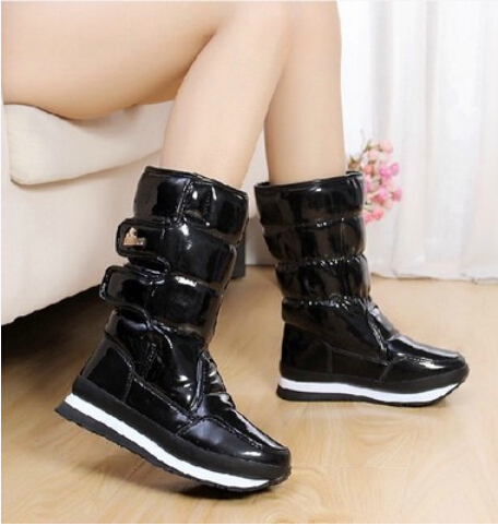 New 2015 Limited Frees hipping Winter Botas Winter Rubber Duck Snow Boots Hasp PU leather fashion warm waterproof Hot Sale(China (Mainland))