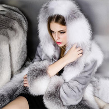 2016 Women fur coat,Genuine Leather,Mink coat,fox mink coat genuine,Fashion Slim Winter real fur coat(China (Mainland))