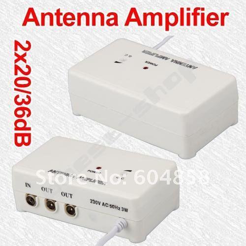FM TV Amplified Aerial Antenna DVB-T Signal Amplifier Booster Splitter TV ANTENNA