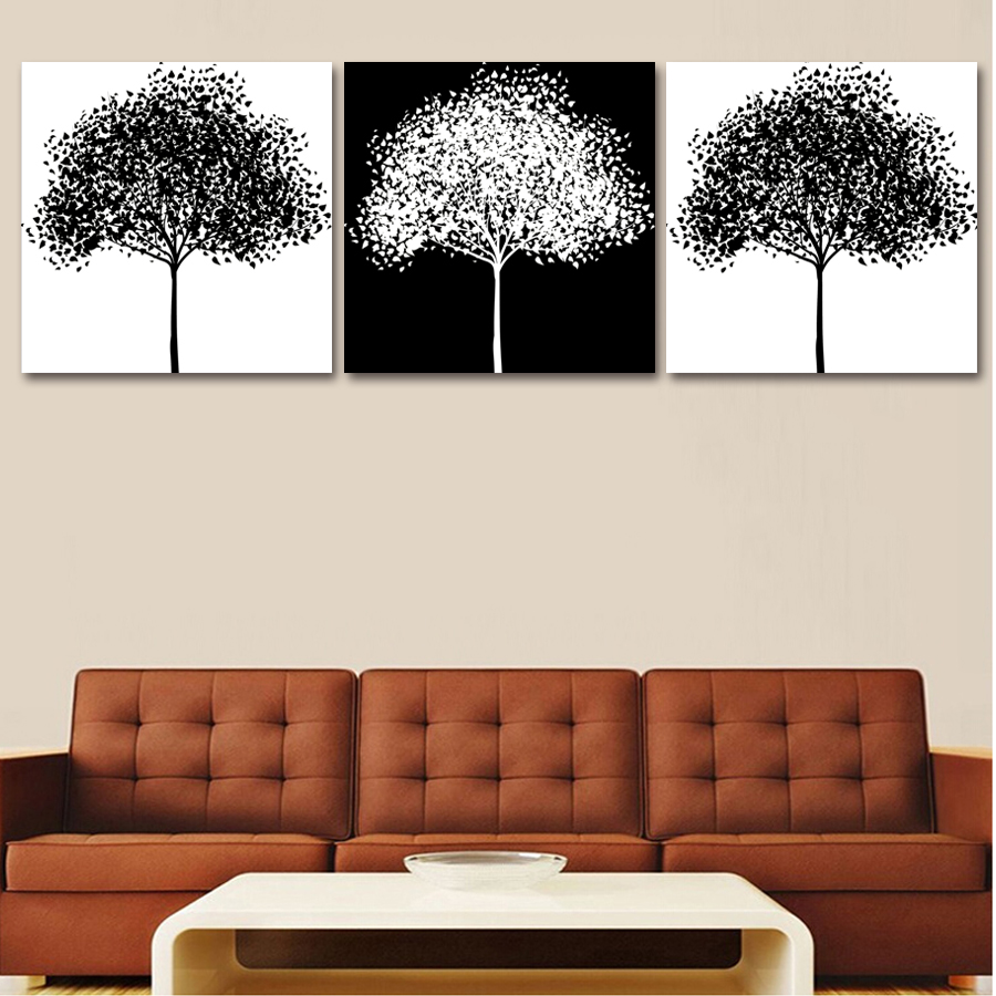 3 Plane Landscape Modular Pictures Painting On The Wall Home Decor Prints Painting Canvas Art Wedding Decor(Unframed)(China (Mainland))