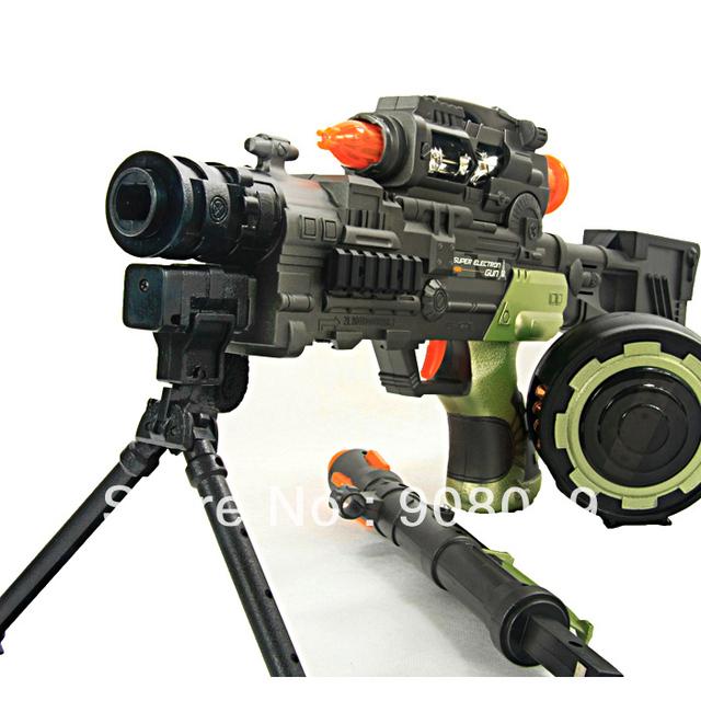 Developed electric toy gun acoustooptical submachine gun toy gun boy toy sniper rifle Hotchkiss