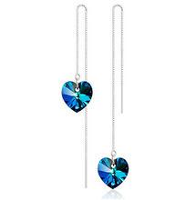 New Fashion Brand brincos Romantic Heart rhinestone Dangle Earrings Vintage Crystal Drop Earrings Wedding Jewelry For Women(China (Mainland))