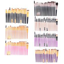 Buy 20 Pcs/Set Face Eye Makeup Brushes Set Powder Foundation Eyeshadow Eyeliner Lip Cosmetic Brush Beauty Kits Maquiagem Tools for $3.66 in AliExpress store