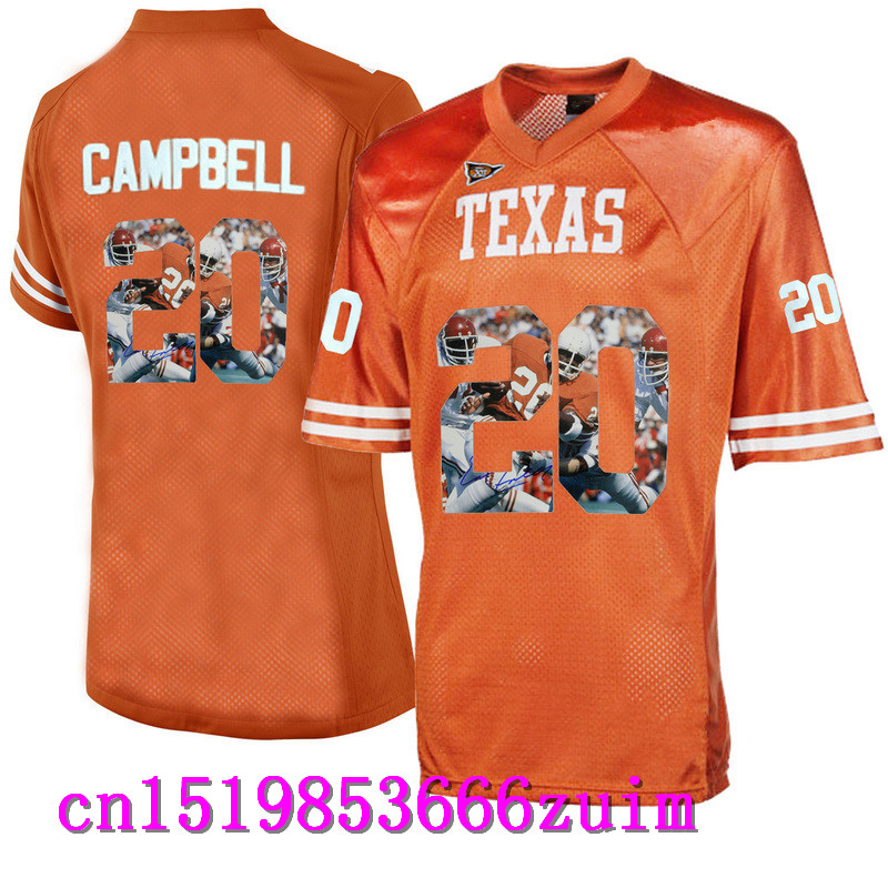 2017 Men's Texas Longhorns Earl CAMPBELL #20 Basketball Limited Jerseys - Apple Green Size S,M,L,XL,2XL,3XL(China (Mainland))