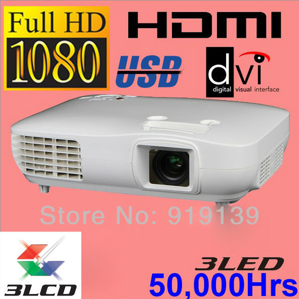 New Large Image 3LCD 3LED Full HD Projector 1290X1080P  Video Proyector Home Cinema Wii Computer Quality Clear Image Projektor<br><br>Aliexpress