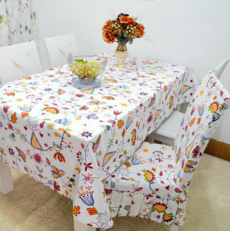 Rustic fabric cotton unpick and wash table cloth tablecloth dining table cloth one piece dining chair set cushion table cloth(China (Mainland))
