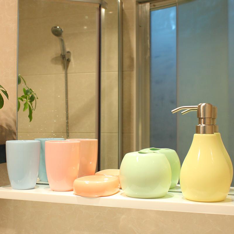Jade icepatterned brief bathroom set bathroom supplies five pieces ceramic bathroom set bath 5(China (Mainland))