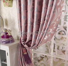 Customized quality jacquard thickening shade cloth curtain for living room window tulle blind(China (Mainland))