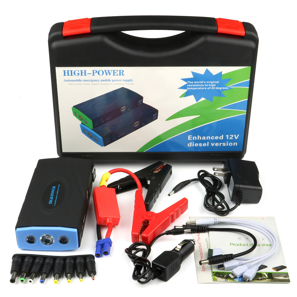12V 10000mAh High Power Capacity Battery Source Pack Charger Vehicle Engine Booster Emergency Starting Power Supply Power Bank(China (Mainland))