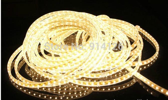 Flexible 10M 220V SMD  Strips 5050 Waterproof Striscia Stripe White LED Strip LED light   + Power plug,  white/warm white<br><br>Aliexpress