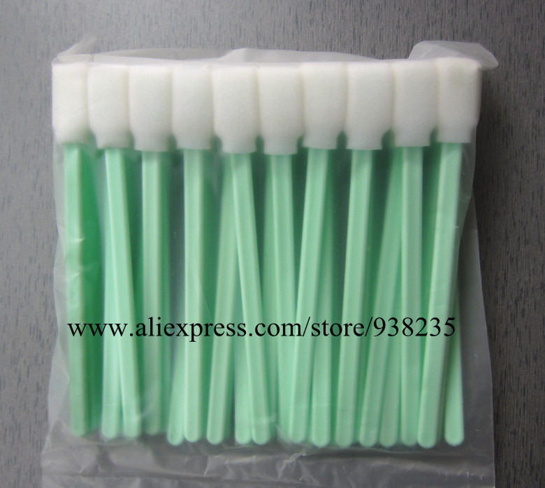 100pcs High quality foam tipped cleaning swab stick for Epson HP Canon Roland Mimaki Mutoh Printer print head cleaning(China (Mainland))