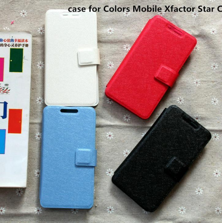 cover case for Colors Mobile Xfactor Star CG case cover flip pu leather(China (Mainland))