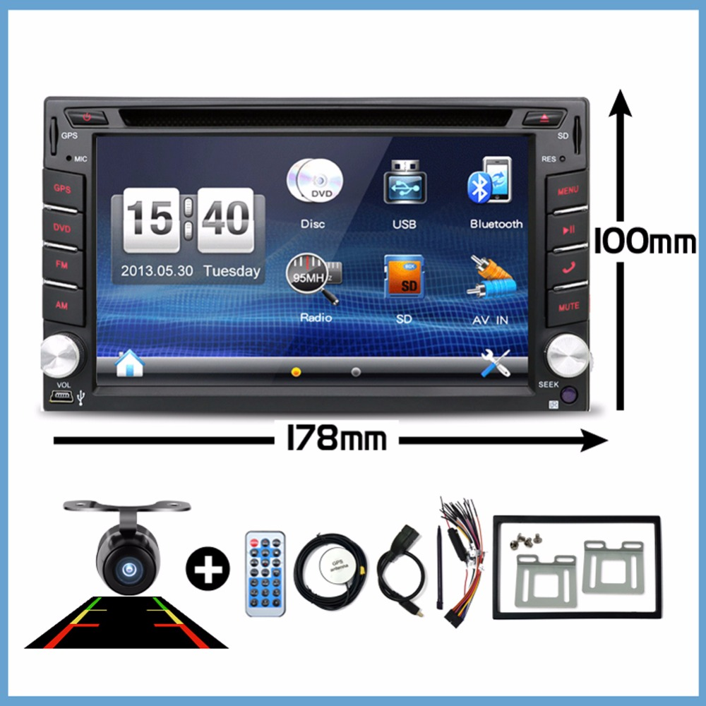 Car Electronic Double 2 Din Car DVD Multimedia Player Auto Radio GPS In Dash Car PC Stereo Video Free Map Free Camer RDS 178*100(China (Mainland))