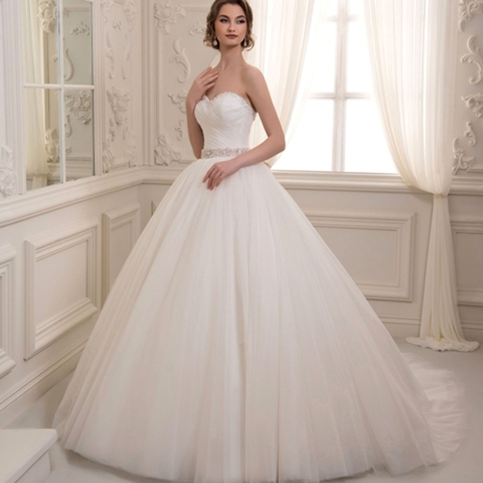 Buy custom madevestidos de noiva ivory for Tulle and organza wedding dresses
