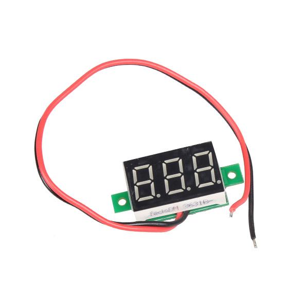 D1U# Mini DC 2.5-30V Red LED Panel Voltage Meter 3-Digital Display Voltmeter Free Shipping(China (Mainland))