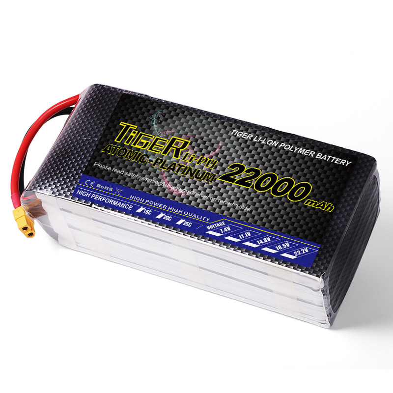 Lipo battery 22000mah 6S 22.2v 25C UAV FPV lipo battery pack for RC quadcopter drones factory price from China Alibaba supplier(China (Mainland))