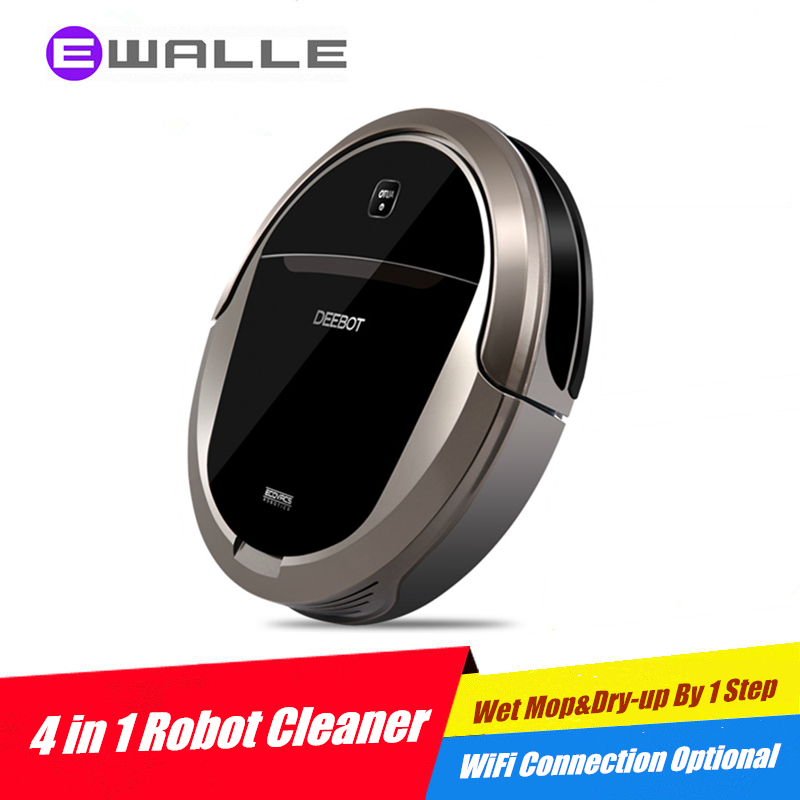 Robot Vacuum Cleaner ECOVACS DEEBOT Bloom DT85 for Home 700Pa Vacuum, Sweep Suction Wet Mopping and Dry up 4 Actions by 1 Step(China (Mainland))