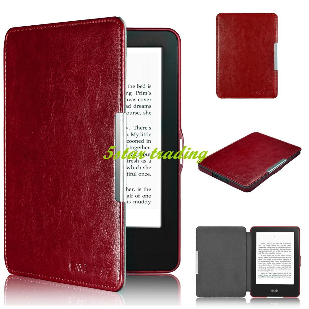 Newest Smart Tablet Case High Quality Leather Cover Stand For New Amazon Kindle 7th (GEN 2014 Release)(China (Mainland))
