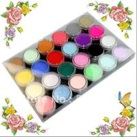 3D nail art Products 24 Colors Acrylic Powder Kit For UV Gel Nail Beauty Desgin Decoration Carve High Quality 087