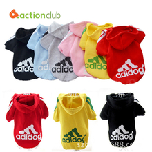 Free Shipping Dog Clothes Pets Coats Soft Cotton Puppy Dog Clothes Adidog Clothes For Dog New 2016 Autumn Pet Products HP096