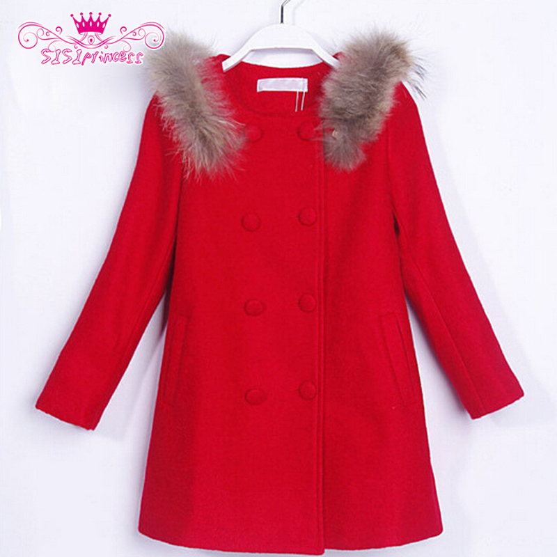 Sisiprincess 5-14 Years Old Fashion Long Sleeve Red Color Children Girls Wool Winter Coats 8<br><br>Aliexpress