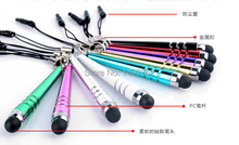 10 pcs/lot Stylus Touch Pen with Earphone Anti Dust Plug for IPad IPhone IPod Tablet(China (Mainland))
