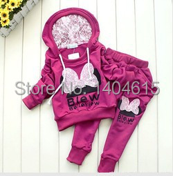 RT-009 Free Shipping Retail Hot sale New Arrival Baby Girls Sport Wear Kids Fashion Clothing Set Comfortable Children Garment(China (Mainland))