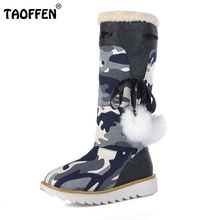Buy Size 32-43 Gladiator Snow Boots Women Flats Half Short Boot Ladies Warm Plush Winter Mid Calf Boots Footwear Shoes Woman for $26.98 in AliExpress store