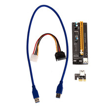 Buy Reliable PCI-E Express Powered Riser Card W/ USB 3.0 extender Cable 1x 16x Monero for $4.65 in AliExpress store