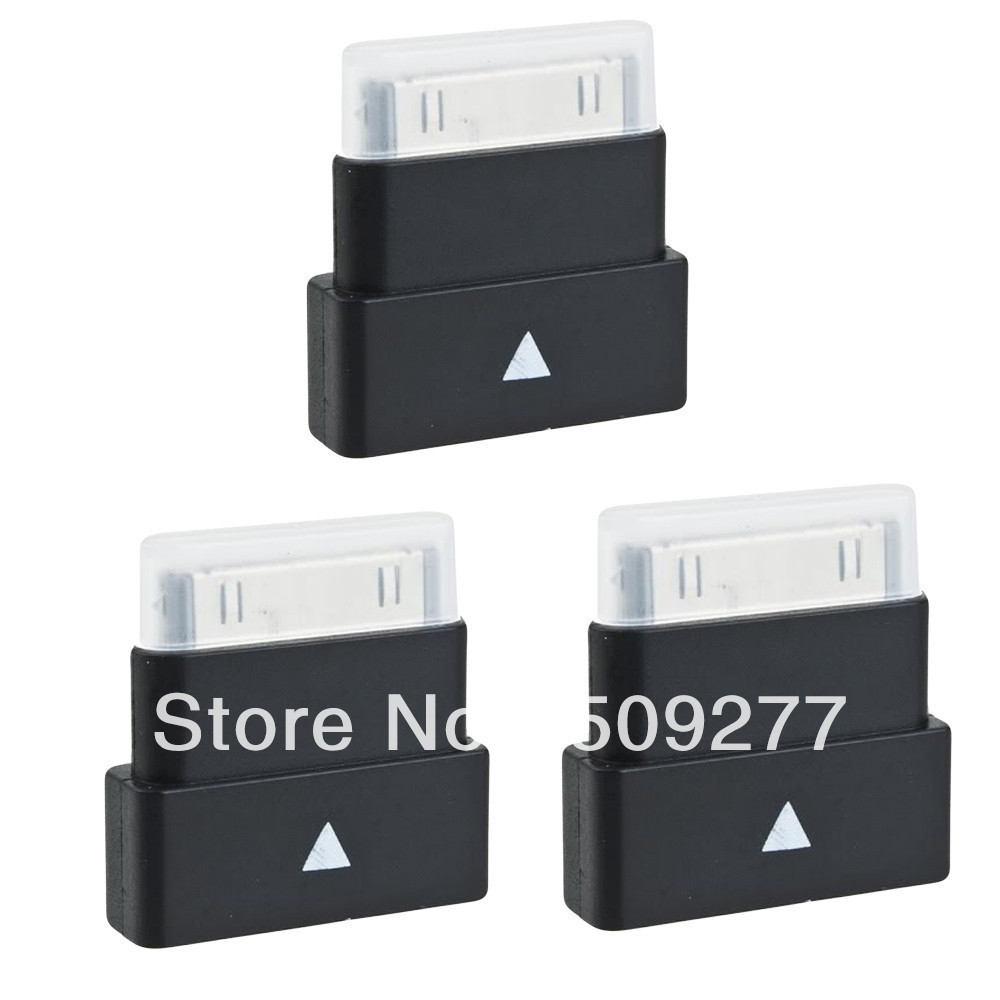 New Black (3) Dock Extender Extension Adapter Cable 30Pin for iPod iPhone 4 4S - Third Placement Item, Not original(China (Mainland))