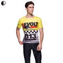 Revolutionary Star Quality Men Boys Sport T shirt Clothing Outdoor Team Soccer Compression Tights T-shirt MTB MMA Jersey MT926(China (Mainland))