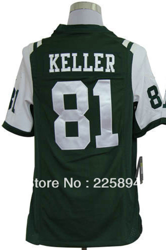 Free fast shipping Cheap Sale #81 Dustin Keller Green Men's American Football Game Jersey size S-2XL All Stitched(Sewn on)(China (Mainland))