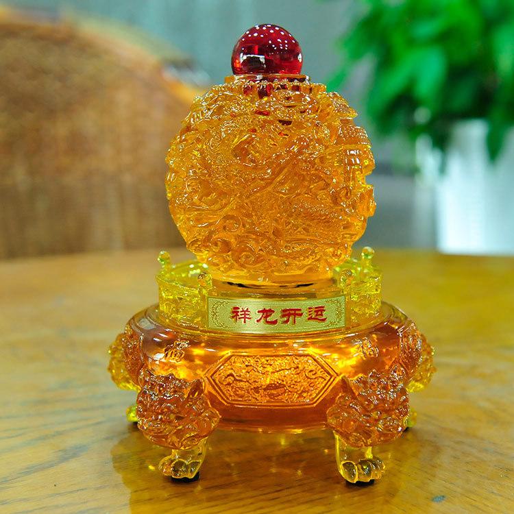 Feira Artesanato Osasco ~ Imitaç u00e3o de vidro amarelo laranja Xianglong afortunado