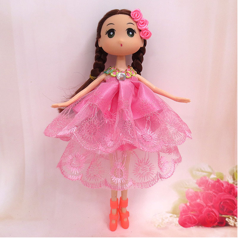24 cm Confused Dolls With Dress Skirts Bouquet Doll Female Figure With High Heels Headwear Toys For Girls Dolls For Children(China (Mainland))
