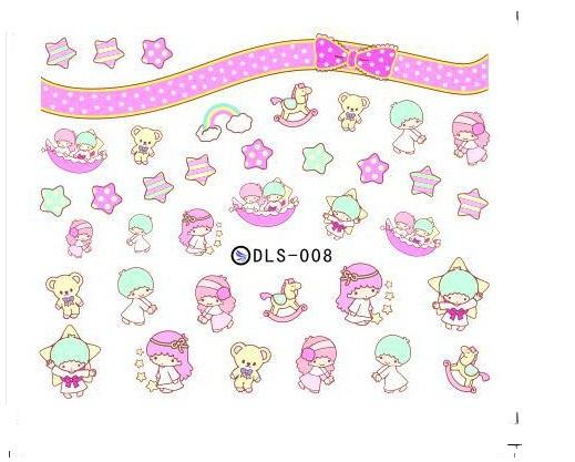 korean japan 2015 new kids cute cartoons nail art stickers water transfer nail patch art foil decals kawaii nail wraps(China (Mainland))