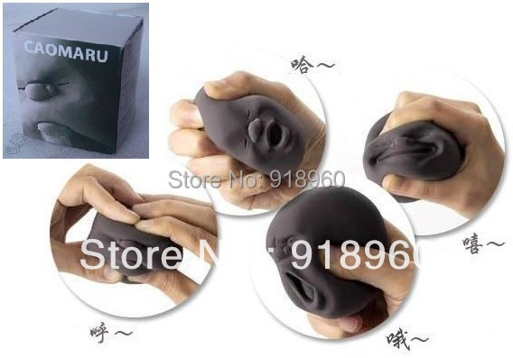 New Novelty Toys/Vent Human Face Ball/Stress Relievers Toy/Anti-stress Tool for Office Worker//Japanese idea/With Box/ATL(China (Mainland))