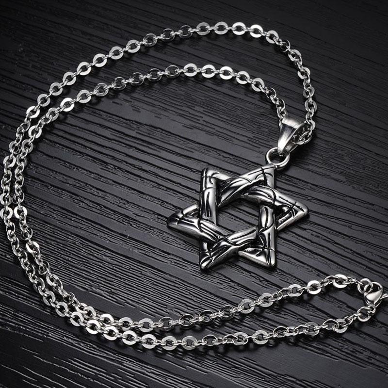 Colar Creative Design Six Awn Star Pendants Titanium Steel Pendant Necklaces For Men Jewelry Hot Sale Wholesale GX939(China (Mainland))