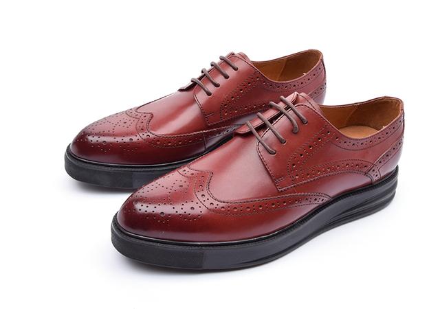Черный / коричневый загар платформа оксфорды мужские туфли из натуральной кожи свадебные ...