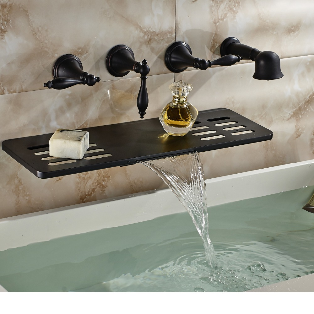 faucet bathtub mixer soap dish wall mount in bath shower faucets